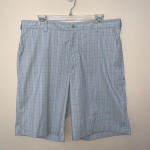 ✅ Nike Golf Dri-Fit Gray White Plaid Shorts 36